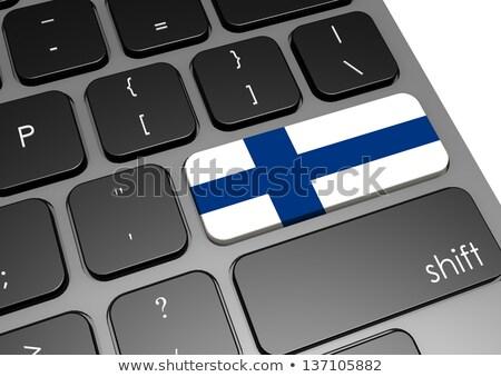 Knop vlag Finland taal leren Stockfoto © michaklootwijk