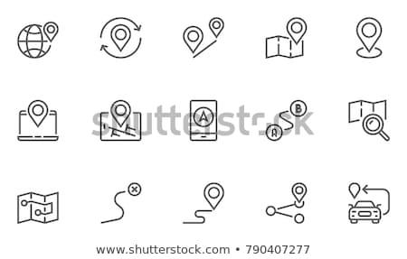GPS ikona arrow proste drogowego Pokaż Zdjęcia stock © kraska