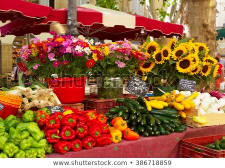 provence market with food and flowers stock photo © neirfy