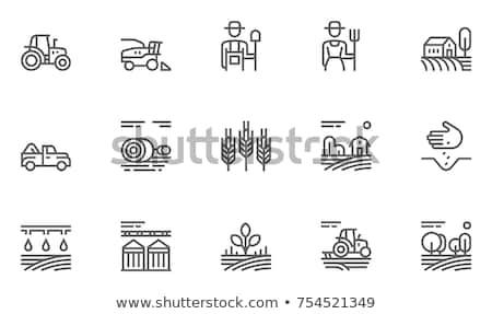 Trekker lijn icon hoeken web mobiele Stockfoto © RAStudio