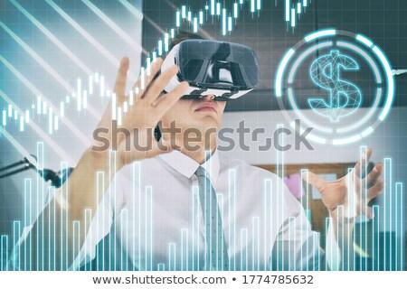 zakenman · kijken · groei · grafiek · verwonderd · denken - stockfoto © get4net