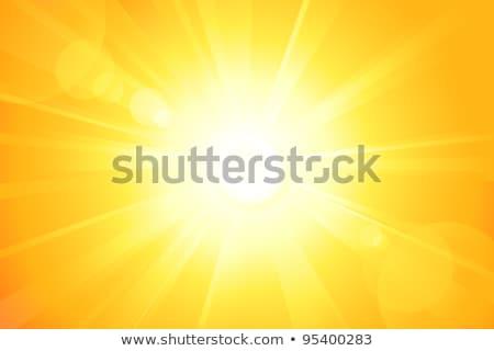Sarı güneş el boyalı yağ pastel Stok fotoğraf © pakete