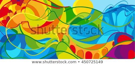 Рио · красочный · кольцами · дизайна · спорт · играх - Сток-фото © cienpies