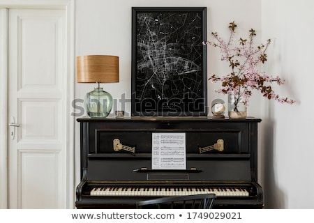 piano on a living room stock photo © luissantos84