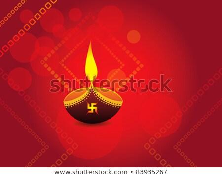 Stok fotoğraf: Diwali · kutlama · vektör · düğün · dizayn · yaprak