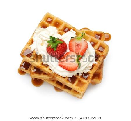 waffle · eprek · étel · gyümölcs · torta · reggeli - stock fotó © digifoodstock