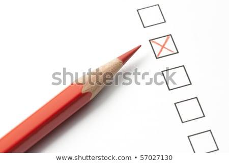 обзор красный карандашом коробки Сток-фото © ambientideas