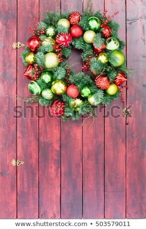 вечнозеленый · дерево · Рождества · белый - Сток-фото © ozgur