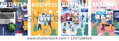 lijn · verzekering · dienst · vector · collectie - stockfoto © genestro