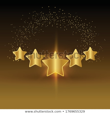 five gold stars Stock photo © blackmoon979