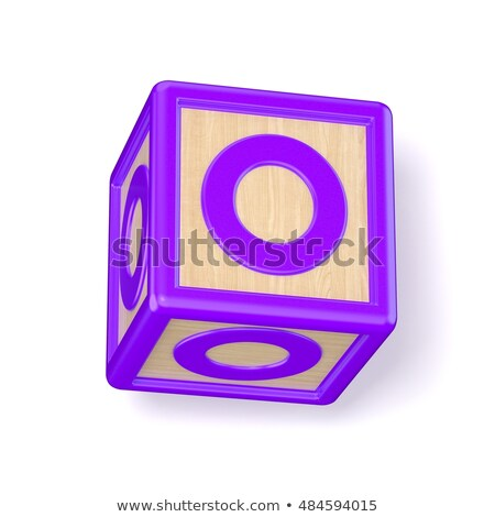 Letter O wooden alphabet blocks font rotated. 3D Stock photo © djmilic