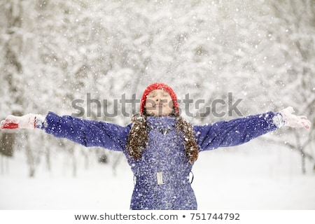 teen girl playing in snow stock photo © mady70