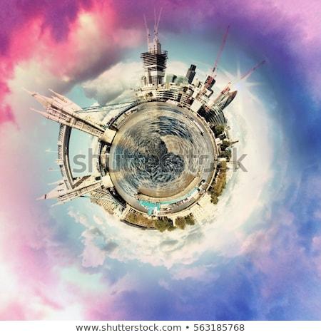 circular panorama of londons most famous attractions stock photo © davidarts
