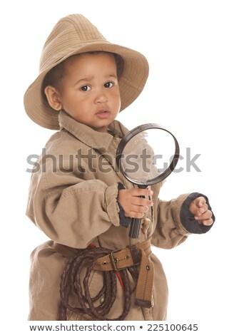 little boy whipped close up isolated stock photo © iordani