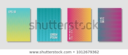 yellow and blue zig zag lines pattern background Stock photo © SArts