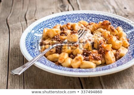 Potato Gnocchi with Tomato Ragu Stock photo © monkey_business