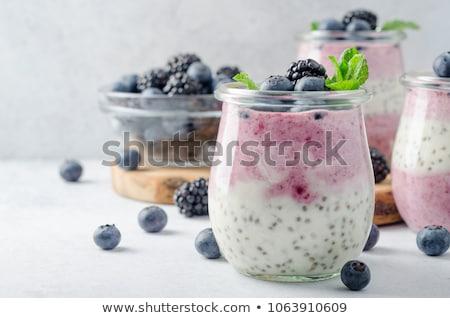 Semente pudim iogurte sementes branco Foto stock © user_11224430