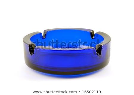 Vazio transparente escuro azul cinzeiro vidro Foto stock © nemalo