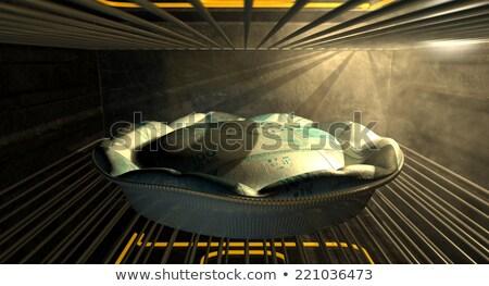 Brazilian Real Money Pie Baking In The Oven Stock photo © albund