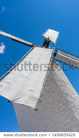 medieval windmills of consuegra in toledo city were used to gr stock photo © fernando_cortes