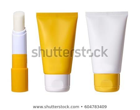 болван Солнцезащитный крем лосьон бутылку икона синий Сток-фото © pakete