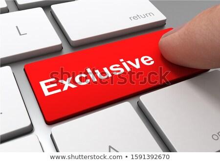 Exclusive CloseUp of Keyboard. 3D Illustration. Stock photo © tashatuvango