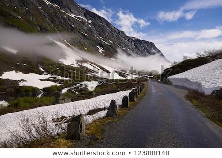 Panoráma egy autó utak hó nyár Stock fotó © compuinfoto