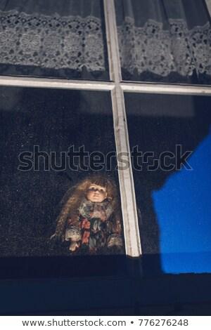 Raccapricciante bambole finestra foto vecchio ax Foto d'archivio © sumners