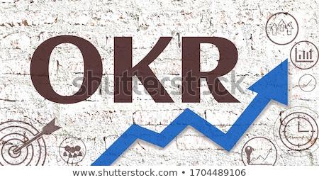 Fehér téglafal kulcs előadás index firka Stock fotó © tashatuvango