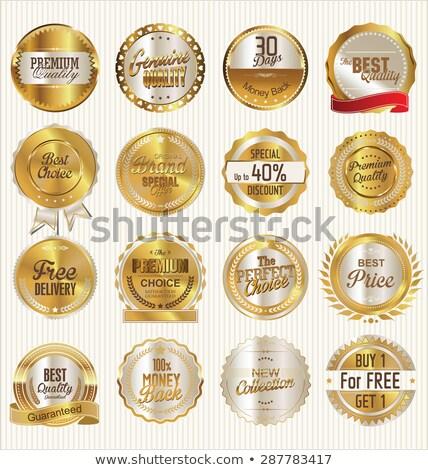 Prima dorado etiqueta diseno negocios Foto stock © SArts