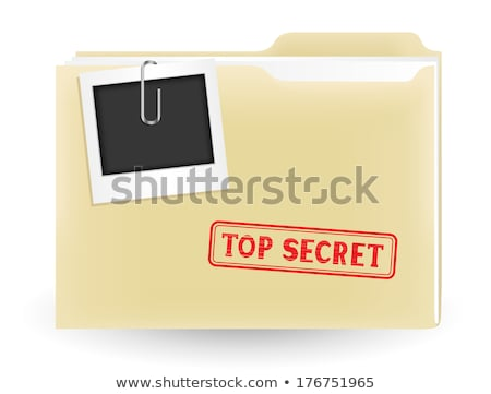 file folder labeled as closed stock photo © tashatuvango
