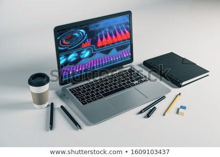 business growth strategy   on laptop screen closeup 3d stock photo © tashatuvango