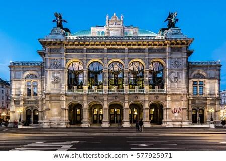 Lange blootstelling opera Wenen Oostenrijk beroemd gebouw Stockfoto © tommyandone