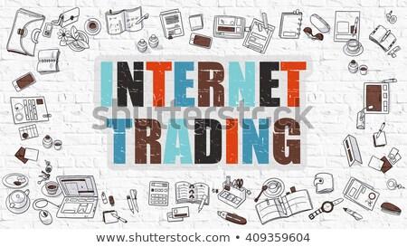 インターネット 取引 白 現代 行 スタイル ストックフォト © tashatuvango