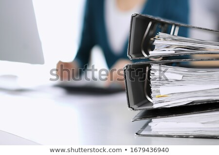 Professionals on Office Folder. Blurred Image. Stock photo © tashatuvango