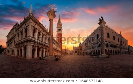 street lamp in san marco square venice italy stock photo © virgin