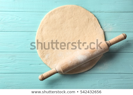 raw dough with rolling pin Stock photo © M-studio