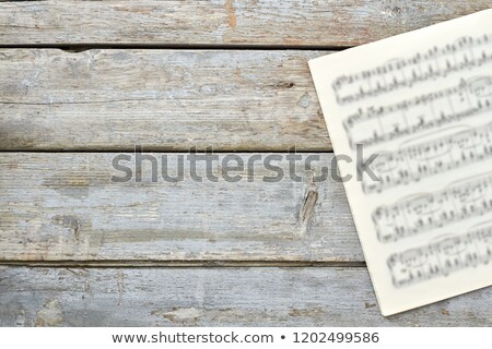 Stock photo: Musical Clef on Floor with Copyspace