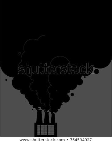 zwarte · rook · pijpen · fabriek · ecologisch · industriële - stockfoto © maryvalery