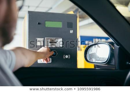 Electrónico coche aparcamiento billete comprar móviles Foto stock © stevanovicigor