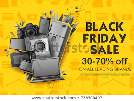 desconto · cartaz · bens · azul - foto stock © studioworkstock