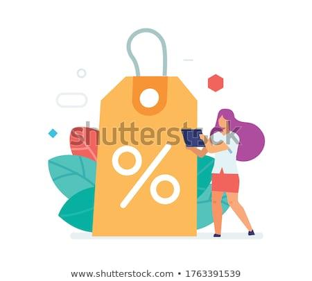 Discount proposition poster vector illustration Stock photo © studioworkstock