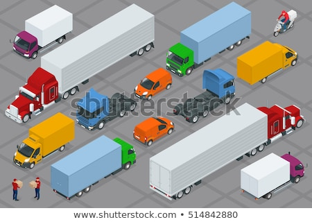 Freight truck isometric 3D element Stock photo © studioworkstock