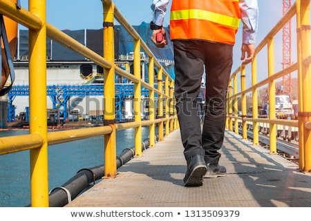 Construction workers walking on steps Stock photo © IS2