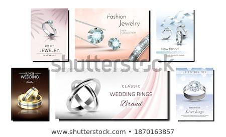 Gemstone Set of Posters on Vector Illustration Stock photo © robuart