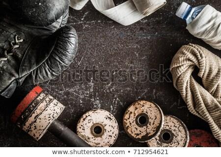 törik · box · gyűrű · fáradt · szőke · nő · sportoló - stock fotó © wavebreak_media