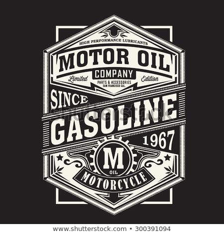Motorcycle biker sport t-shirt emblem. Vector Stock photo © Andrei_