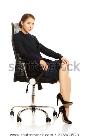 femme · d'affaires · séance · fauteuil · jeunes - photo stock © is2