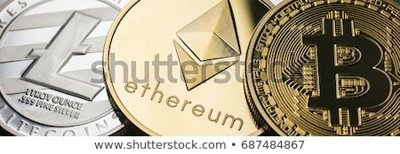 Valuta bitcoin abstract afaceri albastru bani Imagine de stoc © alexaldo