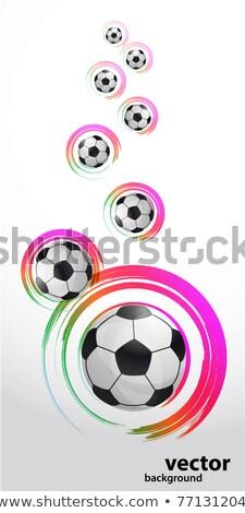 Abstrakten Fussball Banner Malen Hintergrund Sport
